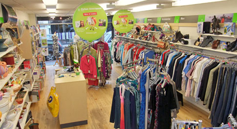Oxfam Ballymena interior