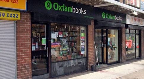 Oxfam Books Botanic shop front