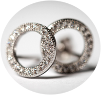 Tipperary Crystal Sparkling Circle Earrings
