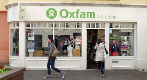 Oxfam Derry shop front