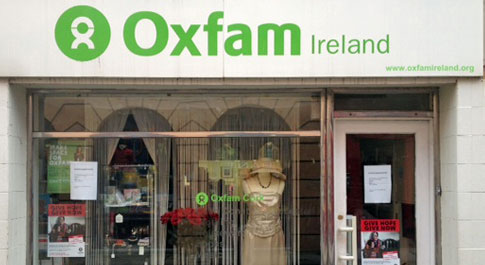 Oxfam Cook Street shop front