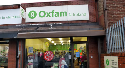 Oxfam Cregagh Road shop front