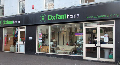 Oxfam Home Dublin Road shop front