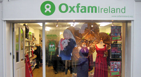 Oxfam Galway shop front