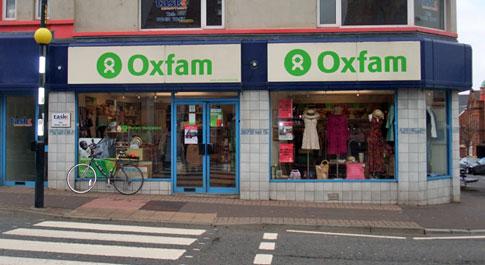 Oxfam Holywood shop front