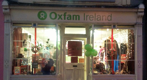 Oxfam Kilkenny shop front