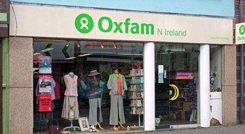 Oxfam Lisburn shop front