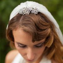 Bridal veil & headpiece