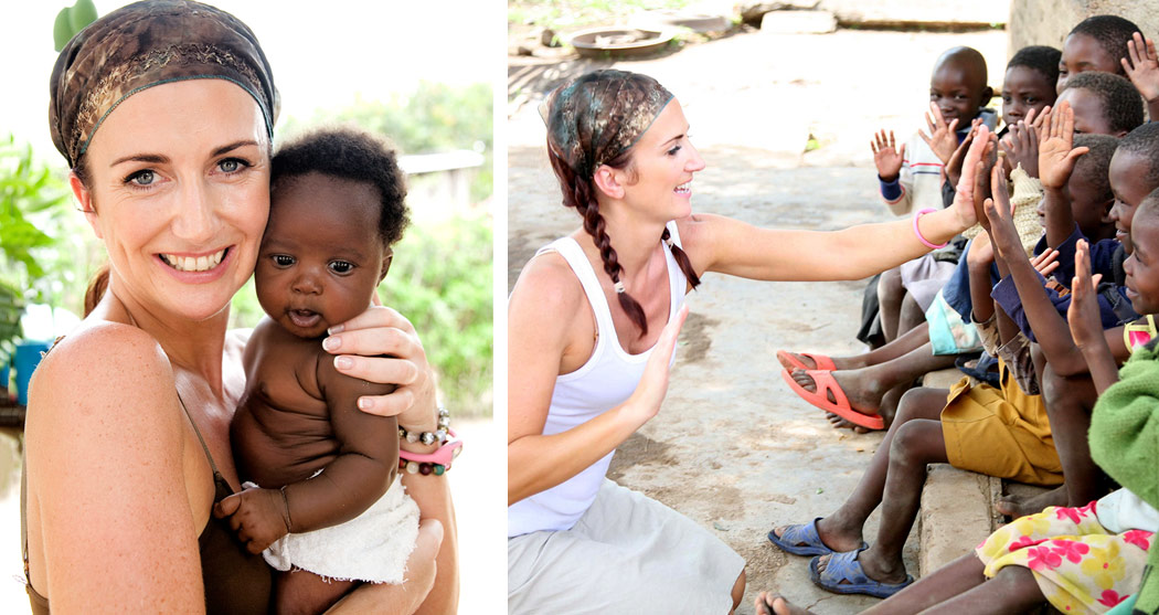 Lorraine Keane during her visit to East Africa