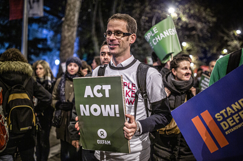 Oxfam climate march