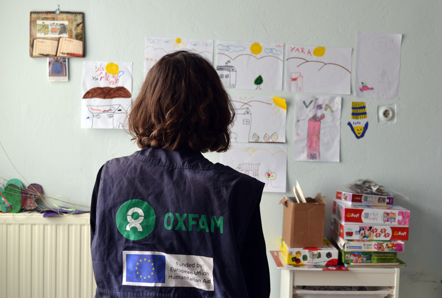 Oxfam in Greece: refugee children's paintings
