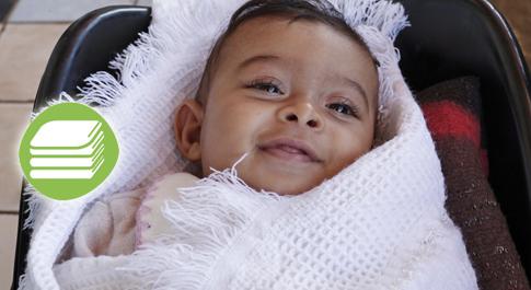 Tamer (4 months old) Syrian refugee