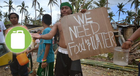 Typhoon Haiyan survivor on the road, Northern Cebu