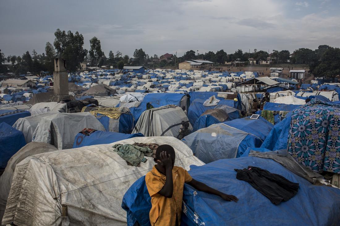 Rural IDP camp in Democratic Republic of Congo