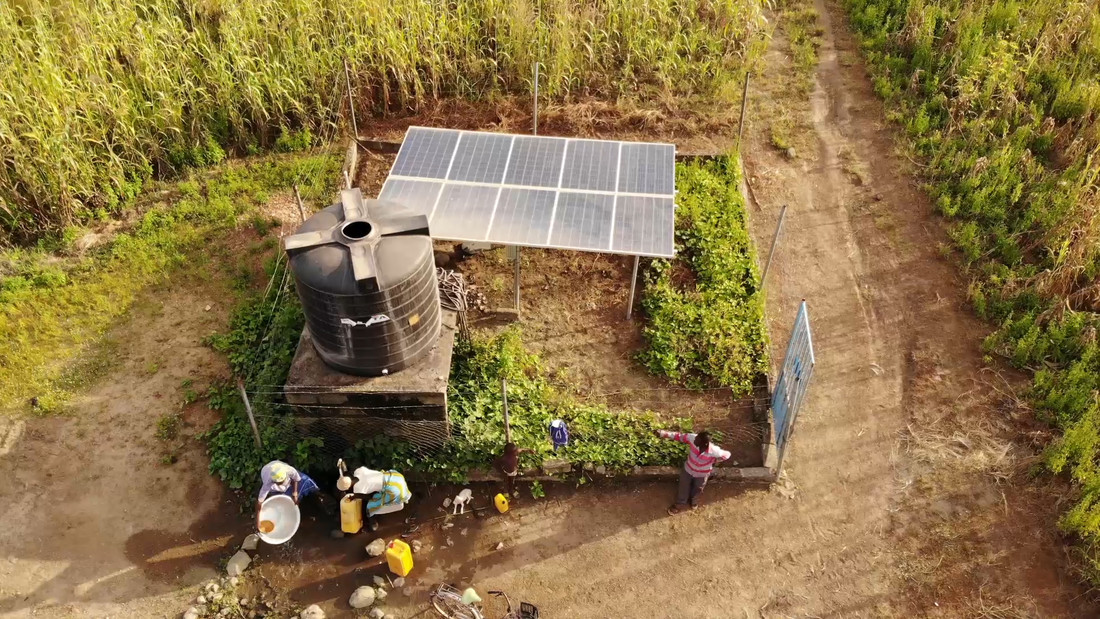 solar powered water pump poverty