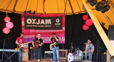 Oxjam tent at EP