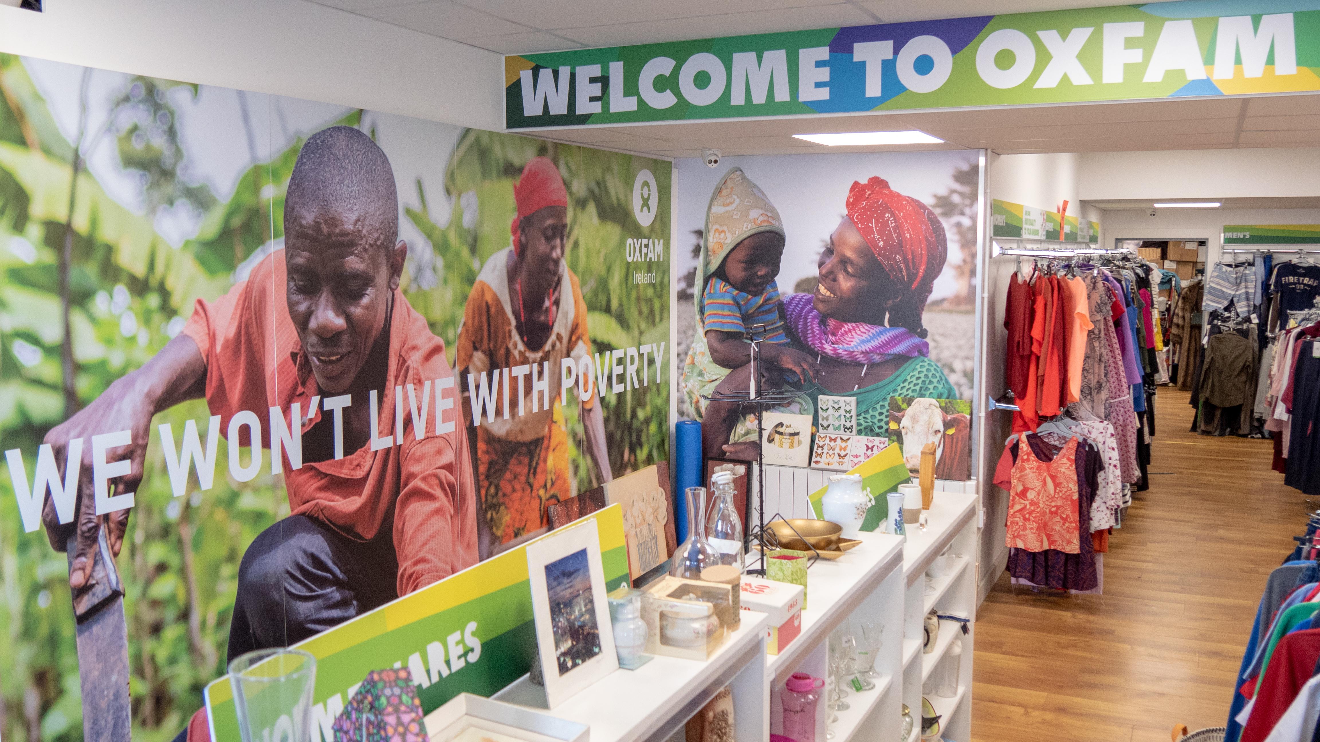 Oxfam secondhand fashion shop