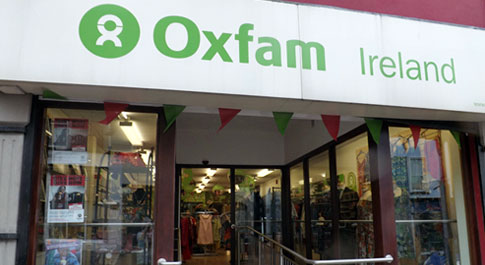 Oxfam Omagh shop front