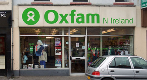 Oxfam Ormeau Road shop front