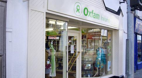 Oxfam Mullingar shop front