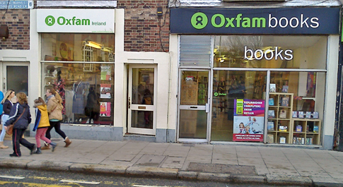 Oxfam Rathmines and Oxfam Books shop front