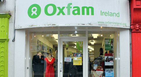 Oxfam Sligo shop front