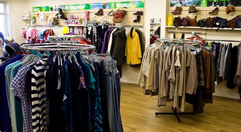 Oxfam Bangor shop interior