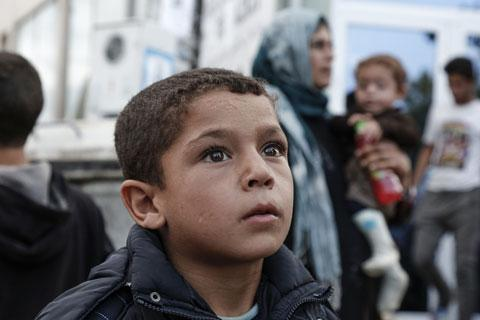 Young Syrian boy