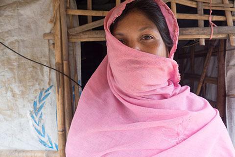 Rohingya refugee woman