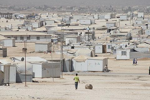 Scale of Syrian refugee camp