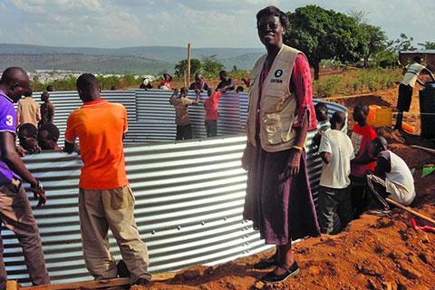 Picture of Margaret during a visit to Mahama Burundi refugee camp in Rwanda