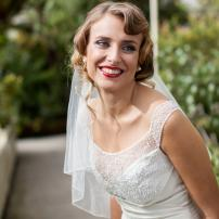 A beautiful Oxfam bride. Photo: Darren Fitzpatrick.