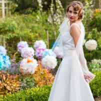 A beautiful Oxfam bride. Photo: Darren Fitzpatrick.