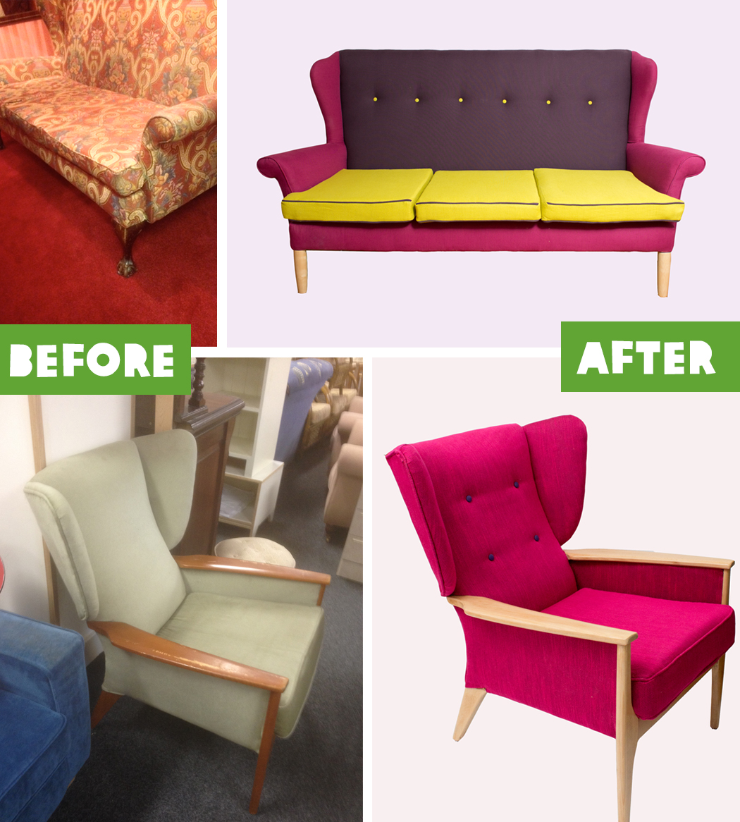 Upcycling before and after find your project at oxfam for Furniture upcycling